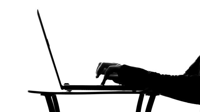typing on Laptop video