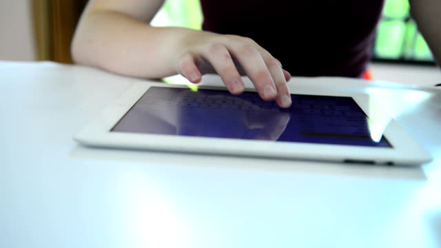 Typing on Tablet PC video
