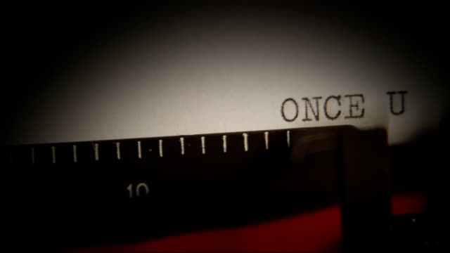 Typing. ONCE UPON A TIME. Introduction to the script. video