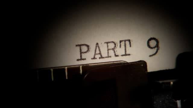Typing. PART 9 to 10. Section of the book. video