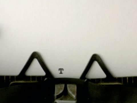 タイプ「終了」(ntsc - 文字記号点の映像素材/bロール