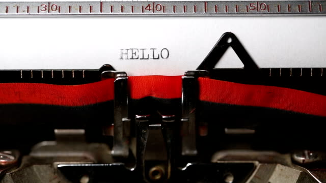 HELLO - Typing with an old typewriter