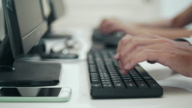 Typing Words on Keyboard,Dolly shot video