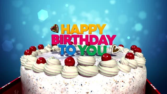 Faute de frappe Happy anniversaire you» sur le gâteau. - Vidéo