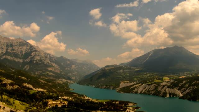 ubaye lake gorges du verdon alpes du haute provence - hautes alpes stock videos & royalty-free footage