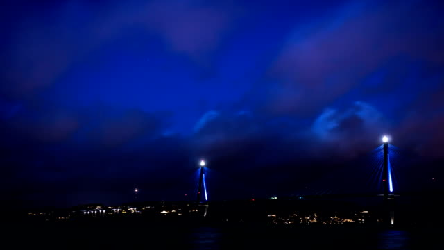Uddevalla Bridge Time-Lapse at Dusk video