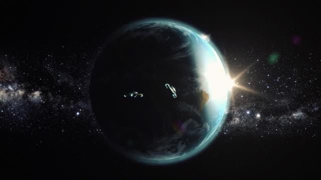 UFOs flying towards earth