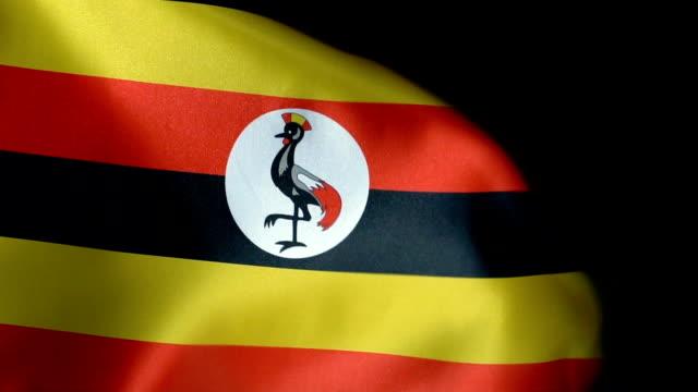 Uganda Flag Flapping
