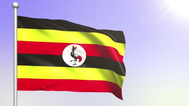 4K Uganda Flag (Loopable) video