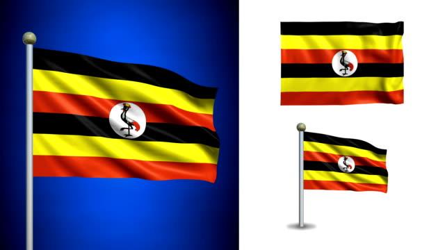 Uganda flag - with Alpha channel, seamless loop! video