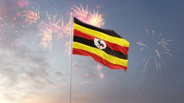 Uganda Flag With Fireworks Background Stock Video - Download Video Clip Now - iStock