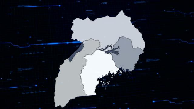 Royalty Free Uganda Map HD Video K Stock Footage BRoll IStock - Uganda map hd