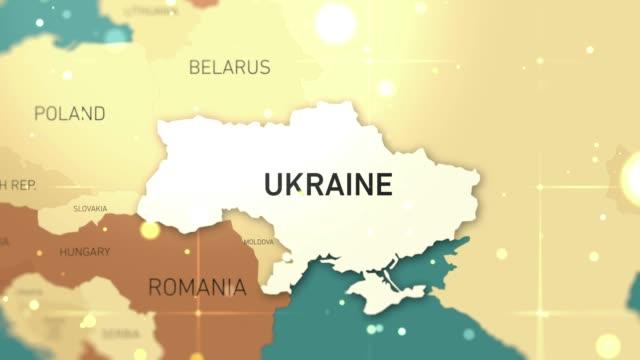 ukraine on world map stock video - hiroshima filmów i materiałów b-roll
