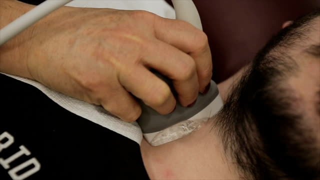 ultrasound examination of the thyroid gland video