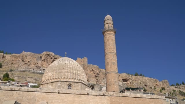Ulu Cami, also known as Great mosque of Mardin with single minaret, Mardin, Turkey Ulu Cami, also known as Great mosque of Mardin with single minaret, Mardin, Turkey mardin stock videos & royalty-free footage