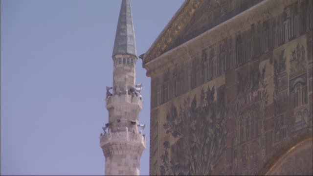 Umayyad Mosque in Damascus,Syria General detail images from people in the countrayd of Umayyad Mosque in Damascus. Damascus/Syria 09/30/2015 damascus stock videos & royalty-free footage