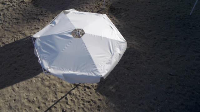 Umbrellas on the beach video