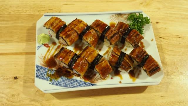 Unagi Don and Japanese food concept