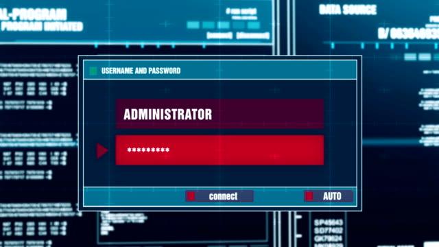 コンピュータ画面上のデジタルシステムセキュリティ警告に対する不正アクセス警告通知 - なりすまし犯罪点の映像素材/bロール