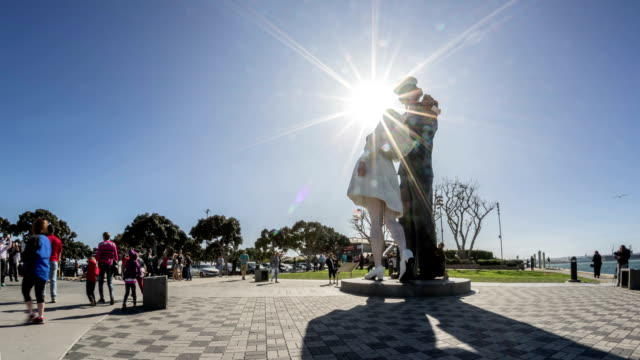 Unconditional Surrender Statue Time Lapse in Downtown San Diego video