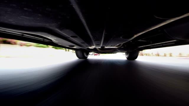 POV under car video