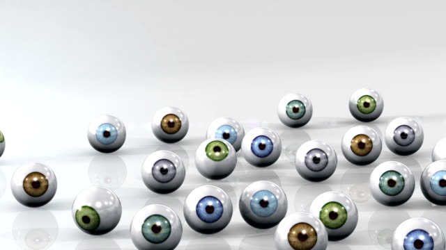 Under Observation Curious Eyeballs Watching your Every Move! Humorous take on Big Brother. bunch stock videos & royalty-free footage