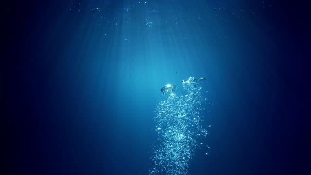 水空気の泡の下で - 泡点の映像素材/bロール