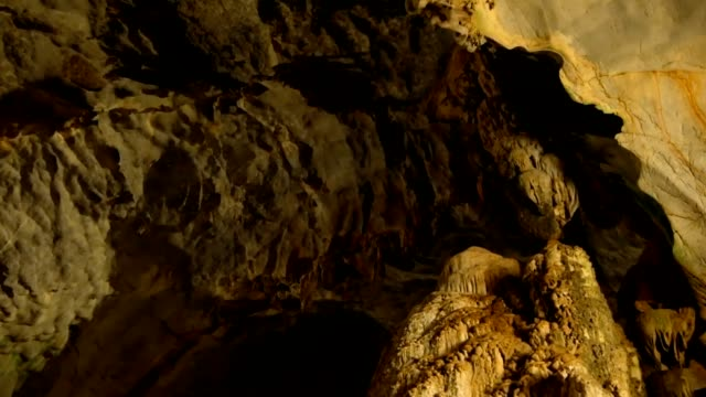 underground cave world is amazing with its magnificance - speleologia video stock e b–roll