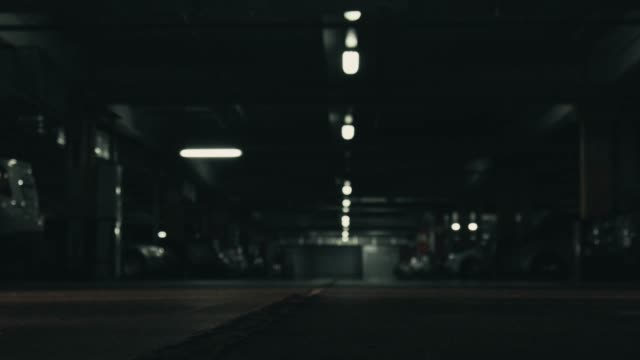 Underground mall parking level video