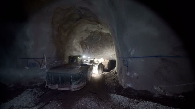 underground mining - sottosuolo video stock e b–roll