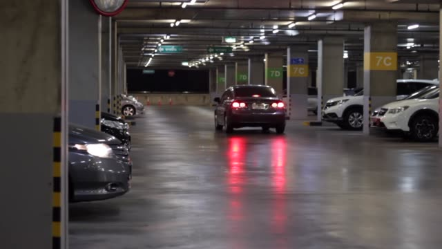 underground parking lot - sottosuolo video stock e b–roll