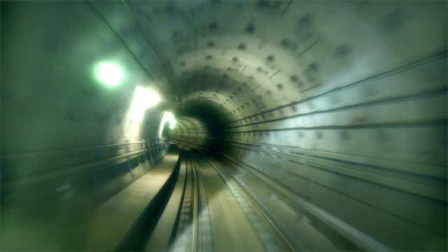 Underground tunnel from drivers perspective underground tunnel, drivers perspective, ride through tunnel, psychedelic, underground railway, from station to station denmark stock videos & royalty-free footage