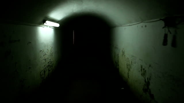 underground tunnel prison - sottosuolo video stock e b–roll