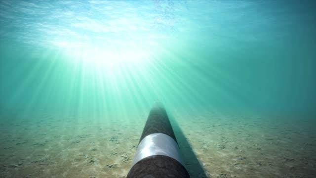 海底水下天然氣管道 - 海中 個影片檔及 b 捲影像