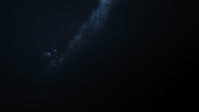 underwater gunshot bubble trails. - traccia video stock e b–roll