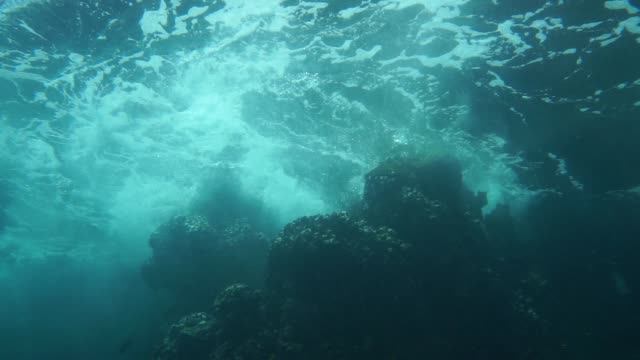 Underwater point of view of violent storm video