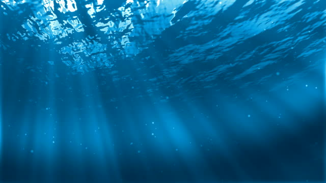 Underwater sceen Realistic underwater Scene with sun rays and nice glowing light. Well as abstract background undersea stock videos & royalty-free footage