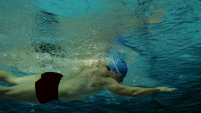 Underwater shot of a swimmer video