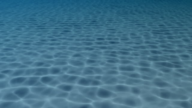 Underwater Computer generated ocean. Underwater. High quality render, banding free, minimum compression for highest quality. double refraction stock videos & royalty-free footage