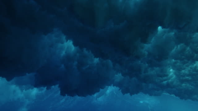 underwater view of ocean wave - tuffarsi video stock e b–roll