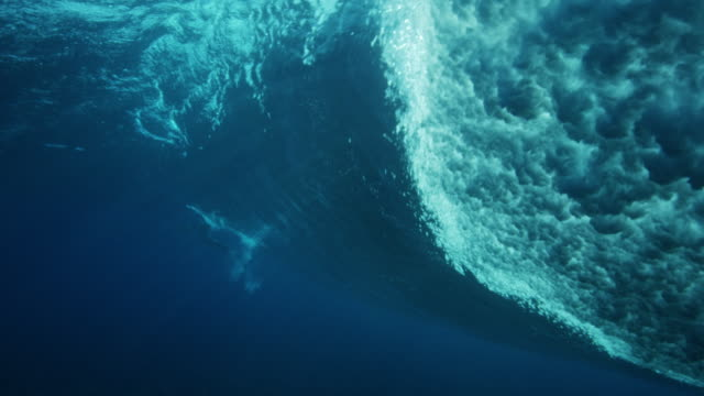 underwater view of ocean wave - sotto video stock e b–roll