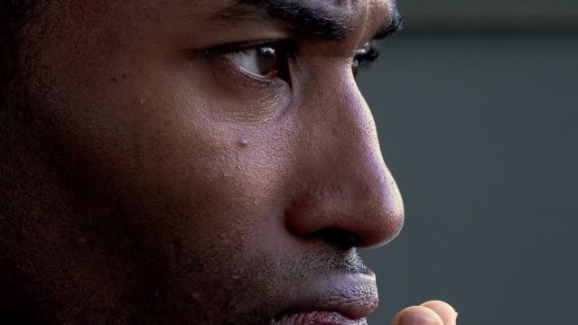 unemployed sad black businessman: 30s african american businessman video