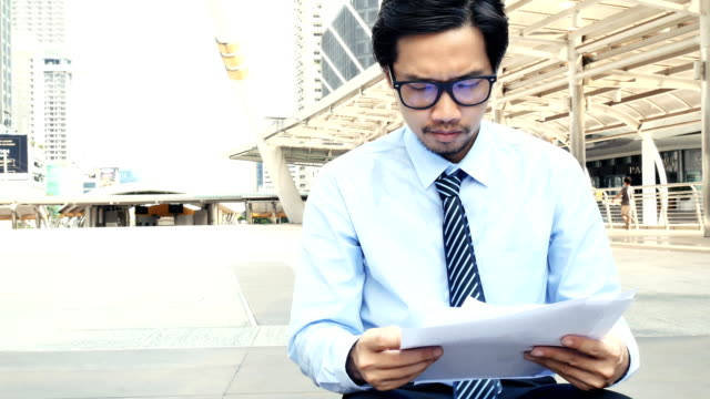 unemployment businessman has tired , anxiety attack concept video
