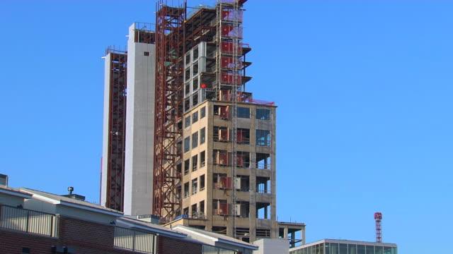 HD Unfinished High Rise Building TiltUp_1 (1080/24P) video