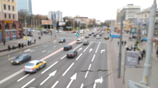Unfocused Scene of Blurred Car Traffic video