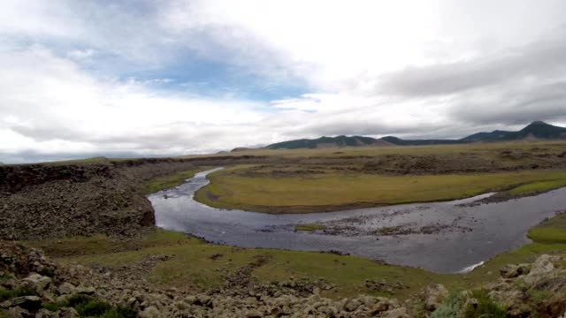 Unhurried Flow Mongolian Crystal Clear River in The Midst of a Steppe video