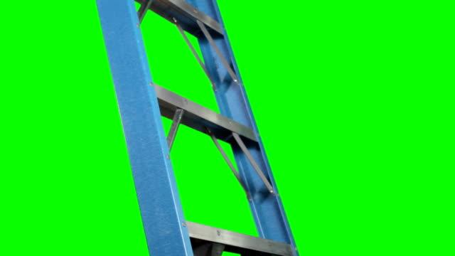 stockvideo's en b-roll-footage met unidentifiable businessman climbing ladder - ladder