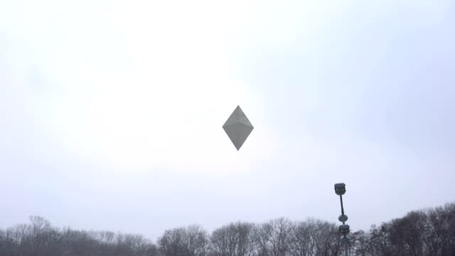 Unidentified object floating in winter sky, alien, extraterrestrial ship Unidentified object floating in winter sky, alien, extraterrestrial ship eastern europe stock videos & royalty-free footage