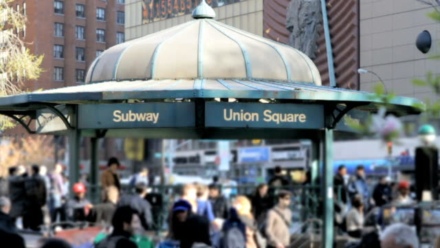 Union Square Subway Station in NYC subway station in union square in new york city b roll stock videos & royalty-free footage