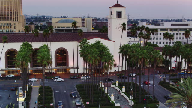 Union Station, Los Angeles at Sunset - Aerial View